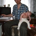 папа в отпуске по уходу за ребенком